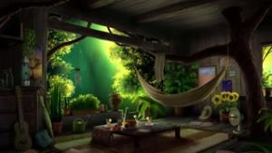 Treehouse summer rain