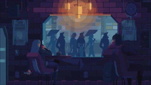 Pixel Cafe Rain