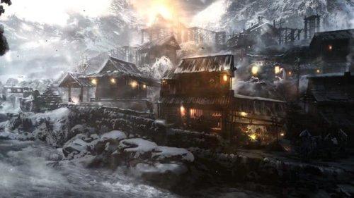 Snowing Village Blacksmith